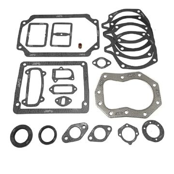 Engine Gasket & Oil Seal Set, Howard Super Gem, Kohler K341, Intake, Head, Valve, Sump, Exhaust